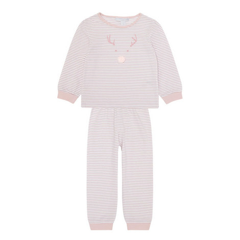 Striped Reindeer Pyjama Set Toddler, ${color}