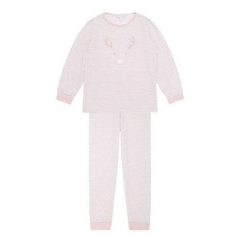 Striped Reindeer Pyjama Set Kids, ${color}