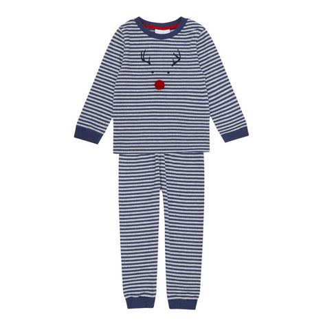 Striped Reindeer Pyjama Set Toddler, ${color}