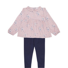 Floral Top and Legging Set Toddler