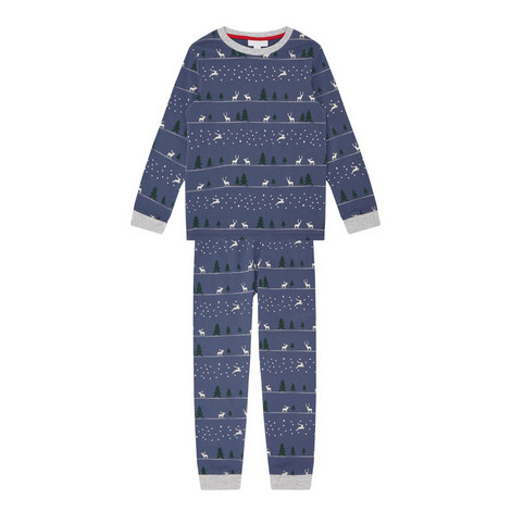 Winter Forest Reindeer Pyjamas Kids, ${color}