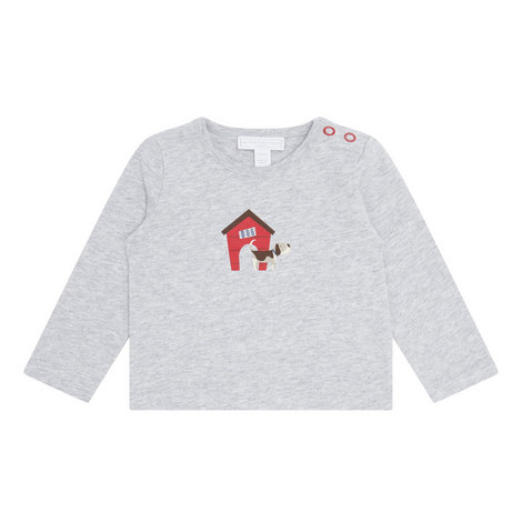 Long Sleeve Puppy Top Baby, ${color}