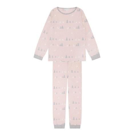 Winter Forest Reindeer Pyjamas Kids, ${color}