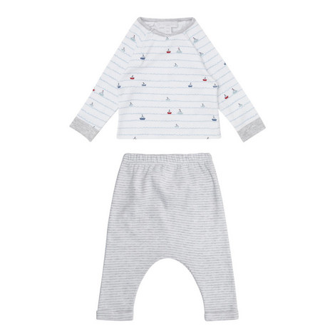Sailboat Stripe Pyjamas Baby, ${color}