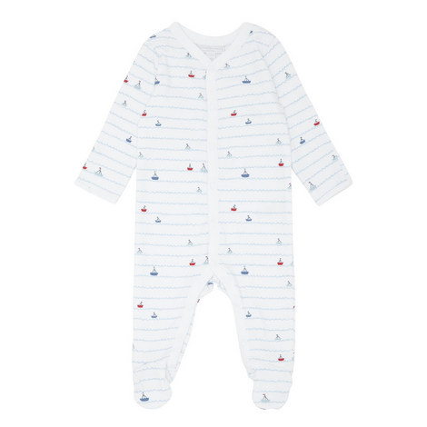 Sailboat Stripe Sleepsuit Baby, ${color}