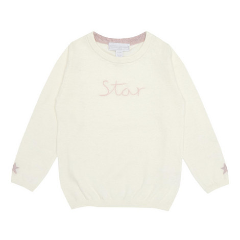 Tg Ivory Star Embroid Knit :-:3/4, ${color}