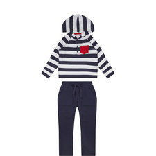 Striped Hoodie and Jogging Bottoms Set Toddler
