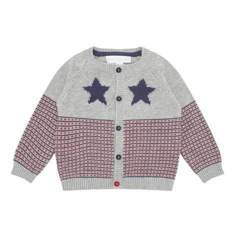 Bb Grey Star Cardi :-:6-9m, ${color}