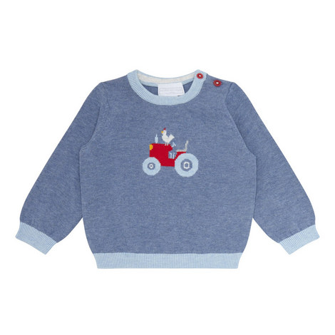 Tractor Motif Sweater Baby, ${color}