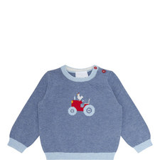 Tractor Motif Sweater Baby