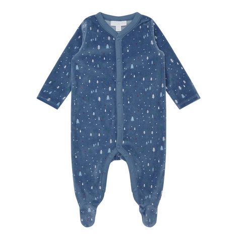 Winter Forest Velour Sleepsuit Baby , ${color}