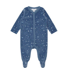 Winter Forest Velour Sleepsuit Baby