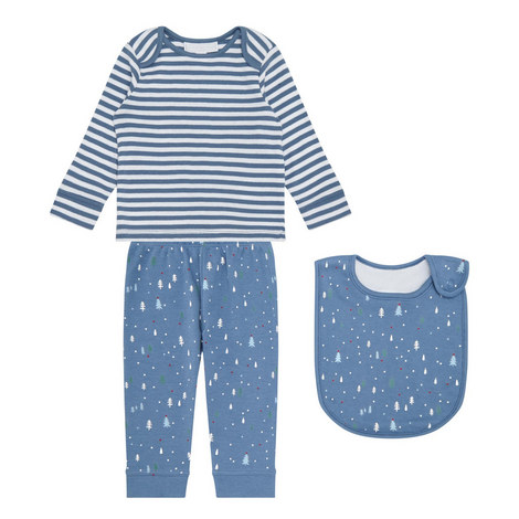 Winter Forest Pyjamas and Bib Set Baby, ${color}