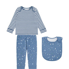 Winter Forest Pyjamas and Bib Set Baby