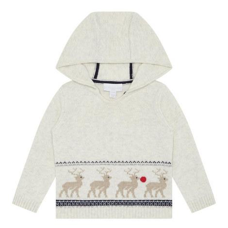 Hooded Reindeer Sweater Baby, ${color}