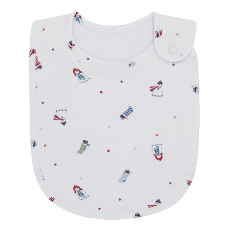 Snowman Print Bib, ${color}