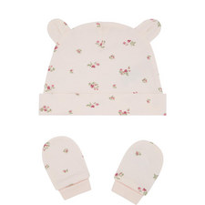 Winter Blossom Hat and Mittens Set Baby