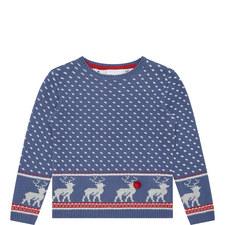 Reindeer Christmas Sweater Boys
