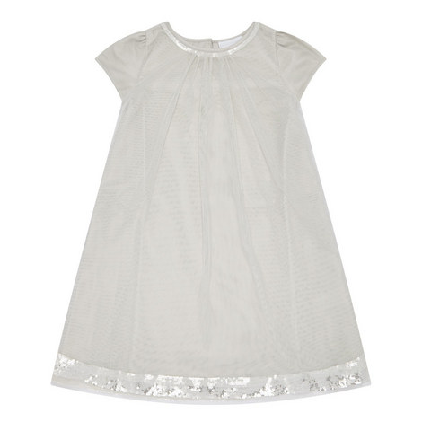 Layered Sequinned Trim Dress Kids, ${color}