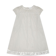 Layered Sequinned Trim Dress Kids