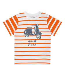 Stripe Moped T-Shirt Baby