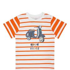 Stripe Moped T-Shirt Baby