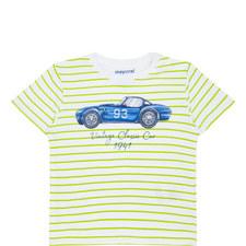 Striped Car Print T-Shirt Baby