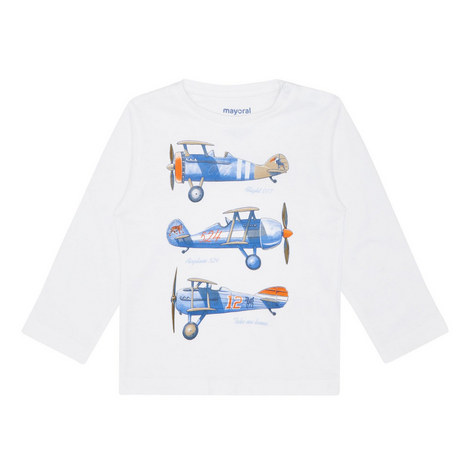 Plane Print T-Shirt Baby, ${color}