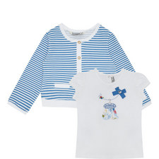 Cardigan and T-Shirt Set Baby