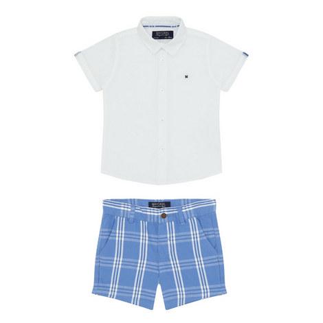 Shirt and Check Shorts Set Baby, ${color}