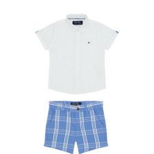Shirt and Check Shorts Set Baby