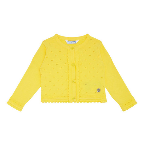 Scalloped Trim Cardigan Baby, ${color}