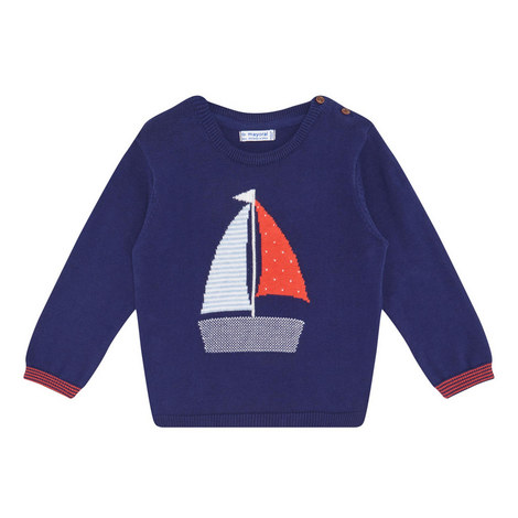 Boat Print Sweater, ${color}