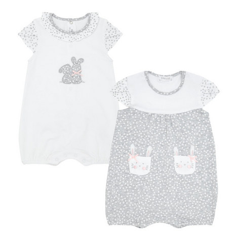 Two-Pack Bunny Rompers Baby, ${color}