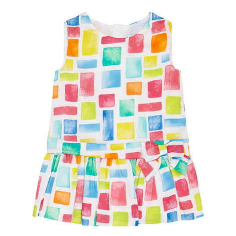Square Print Sleeveless Dress Baby, ${color}