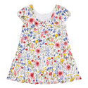 Floral Cap Sleeve Dress Baby, ${color}