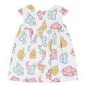Cartoon Flower Print Dress Baby, ${color}