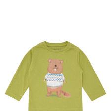 Beaver Print Shirt Baby