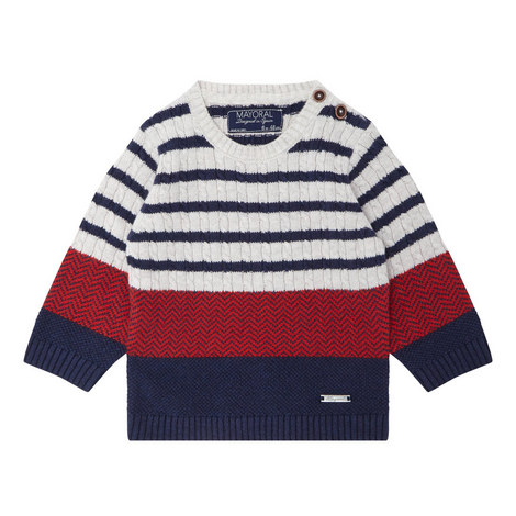 Stripe Cable Knit Sweater Baby, ${color}