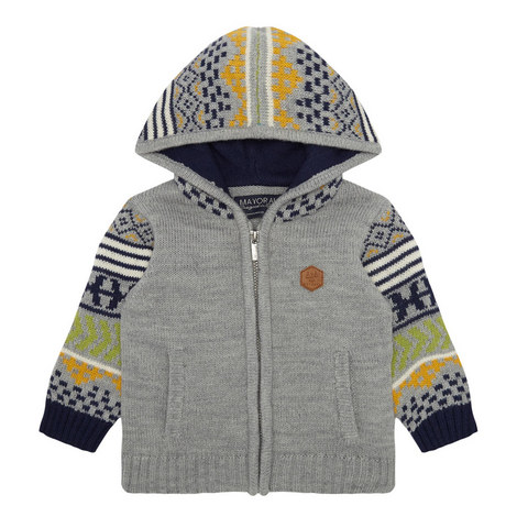 Knit Zip-Through Hoodie Baby, ${color}