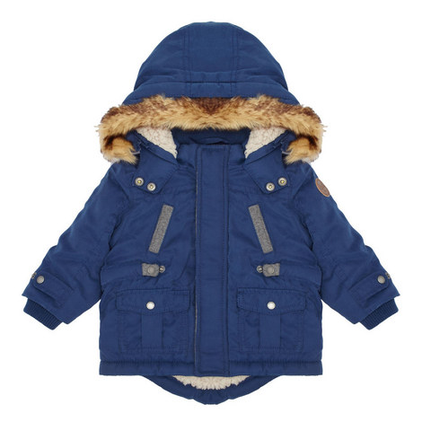 Faux Fur Hooded Coat Baby, ${color}