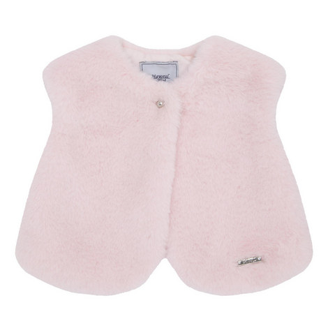 Faux Fur Gilet Baby, ${color}