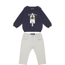 Two-Piece Vespa Trouser Set Baby