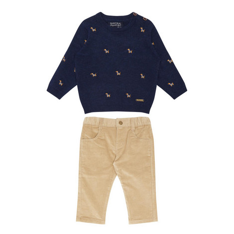 Dog Sweater and Trousers Set Baby, ${color}