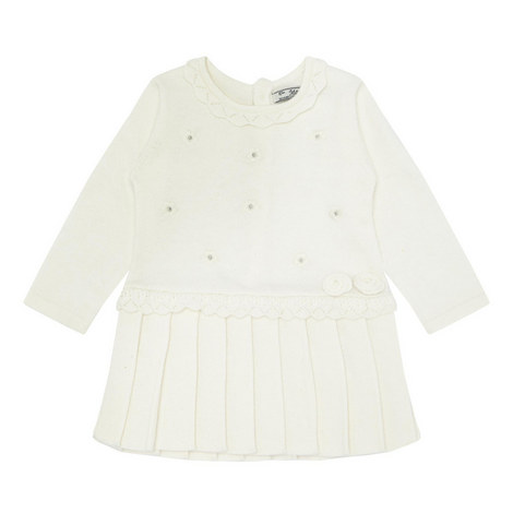 Knitted Pleated Dress Baby, ${color}