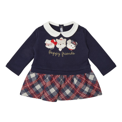 Puppy Check Dress Baby, ${color}