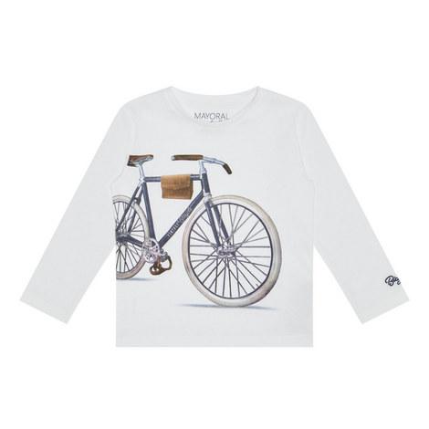 Long Sleeve Bike T-Shirt Kids, ${color}