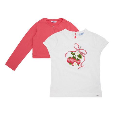 Cardigan & Cherry T-Shirt Set, ${color}