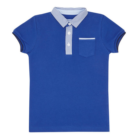 Contrast Trim Polo Shirt, ${color}