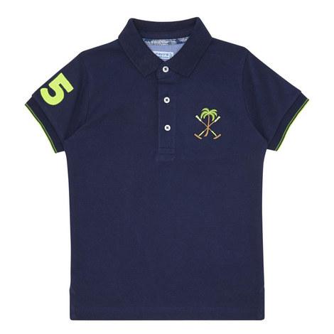 Trim Detail Polo Shirt, ${color}